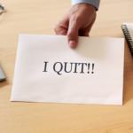handing in resignation